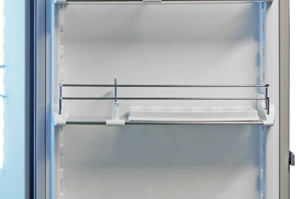 The Liebherr CS1360's stylish door shelves are a pain to adjust, but offer more customizable storage.