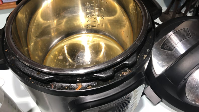 Dirty Instant Pot up close