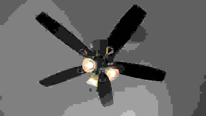 Hue bulbs in ceiling fan