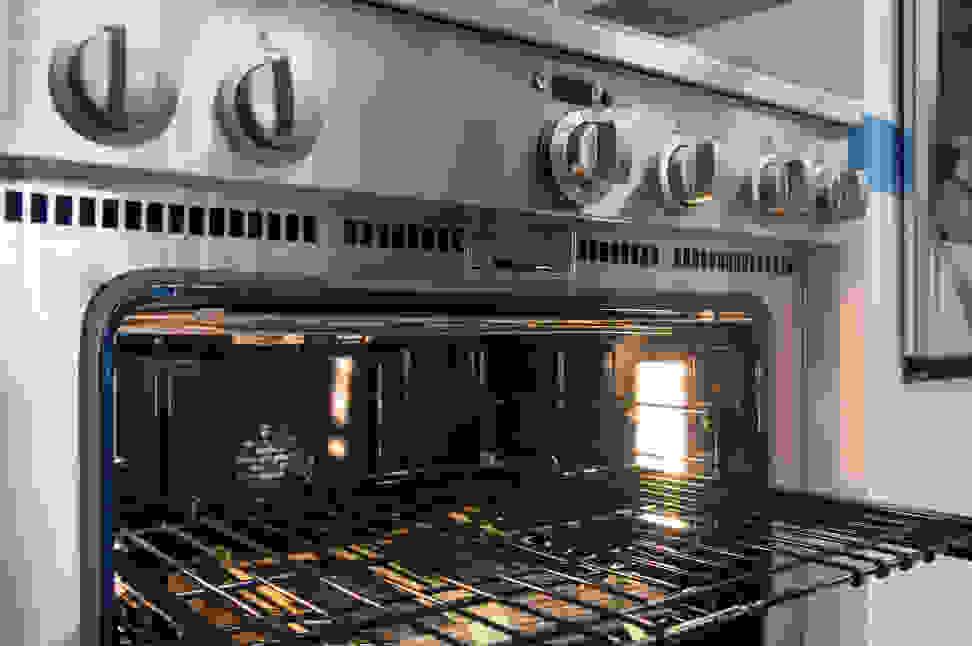 GE Monogram ZDP364NDPSS rack and controls