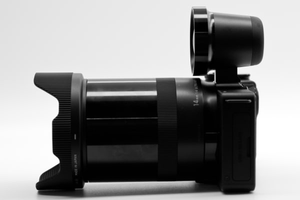 The dp0 Quattro's lens is significantly longer than the lenses used on other Quattro cameras.