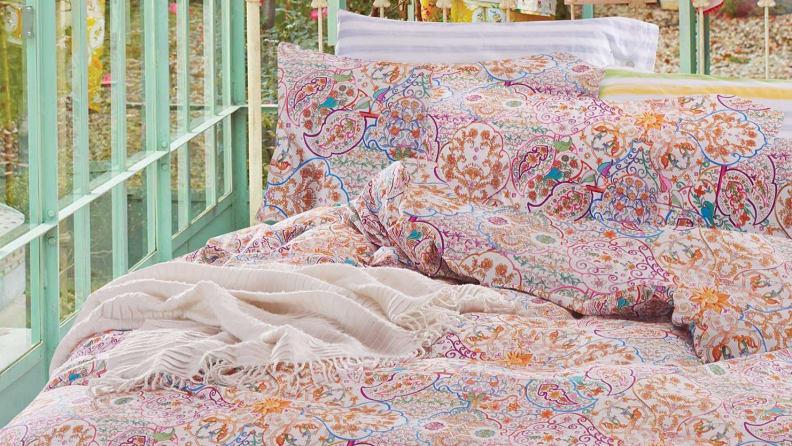Linen Cotton Bohemian Duvet Cover