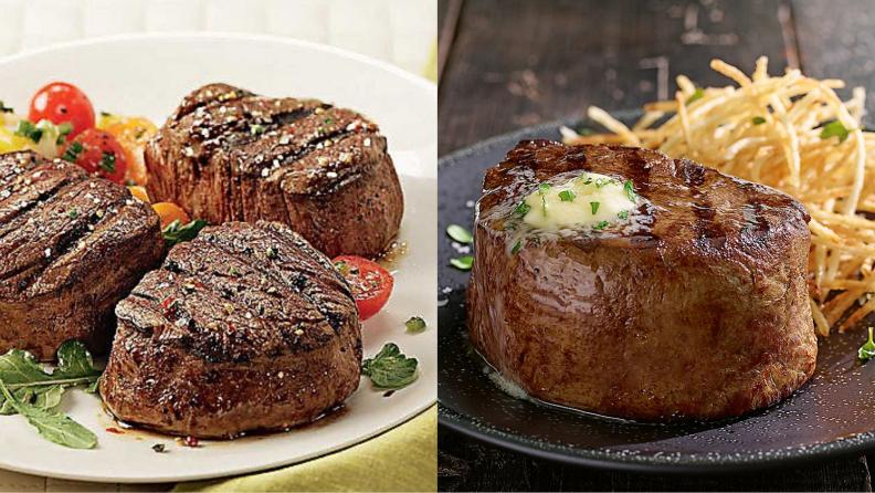 filet mignon steaks on a plate