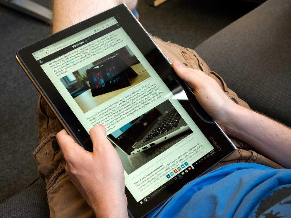Lenovo Yoga 900s Tablet In Use