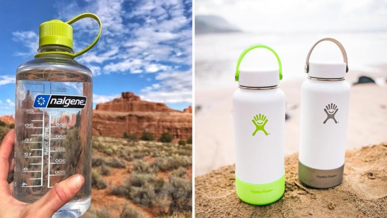 nalgene and hydro flask