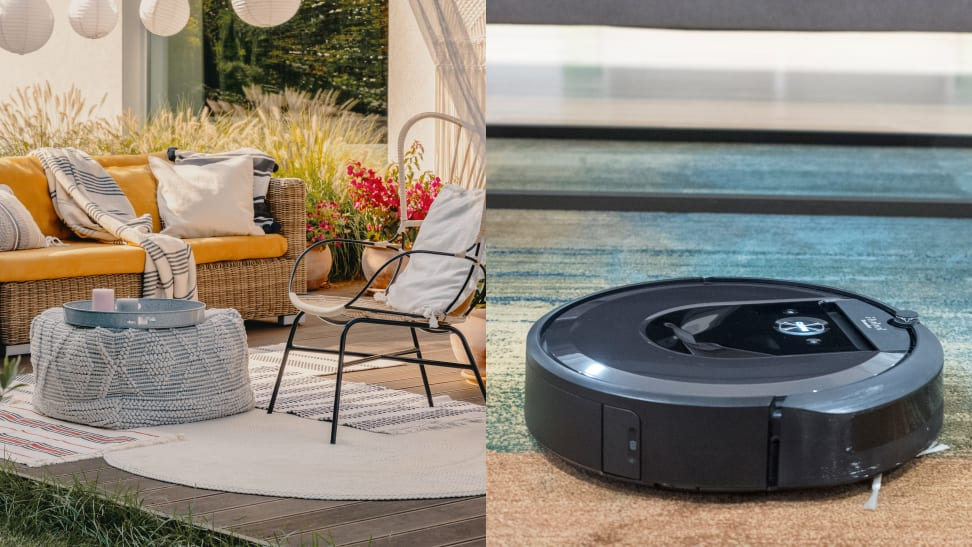 can a robot vacuum clean a patio