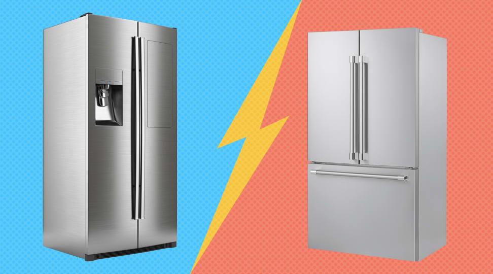 French-door versus side-by-side refrigerators