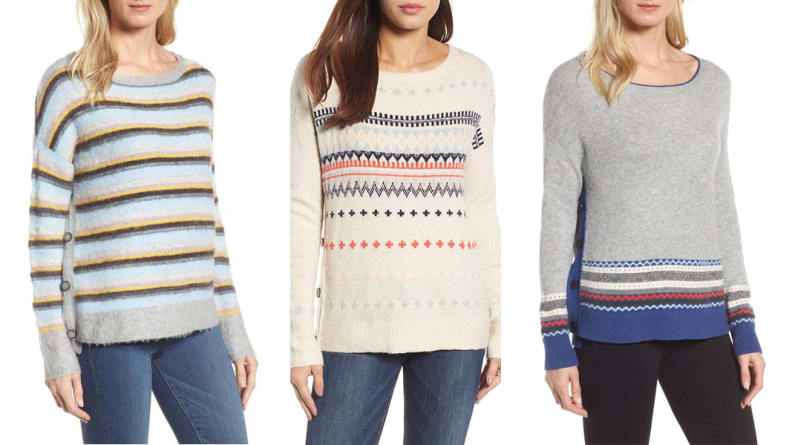 Caslon Side Button Sweaters