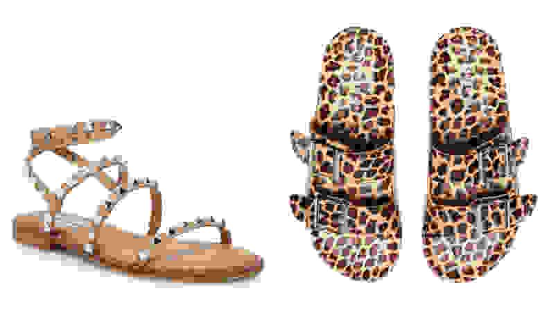 Steve Madden sandals on white background.