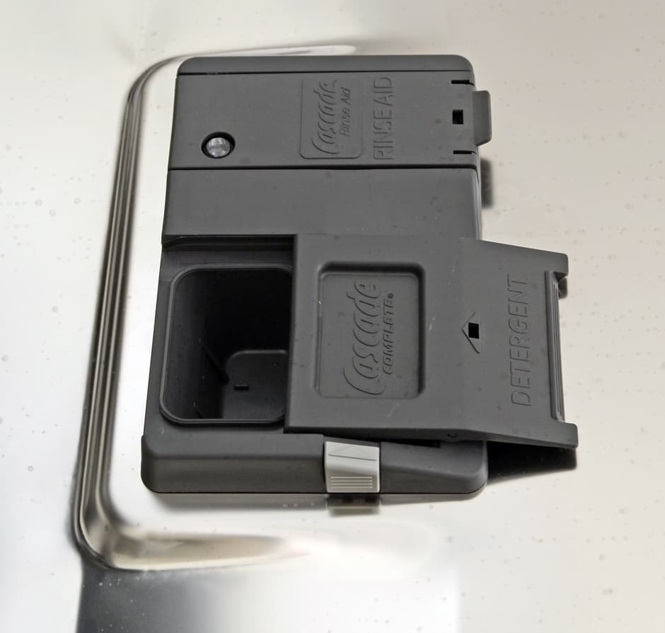 GE Profile PDT760SSFSS detergent and rinse aid dispenser