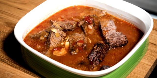 Pot roast in dish