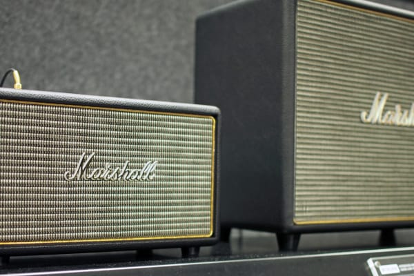 Marshall's Woburn speaker is quite a bit bigger than the Acton.