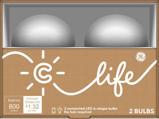 Product Image - C by GE C-Life LED Light Bulb, 2-Pack