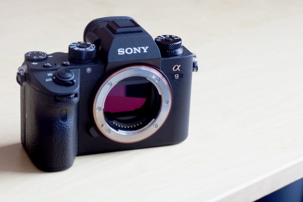 The Sony Alpha A9 is remarkably small for a full-frame, pro-grade camera.