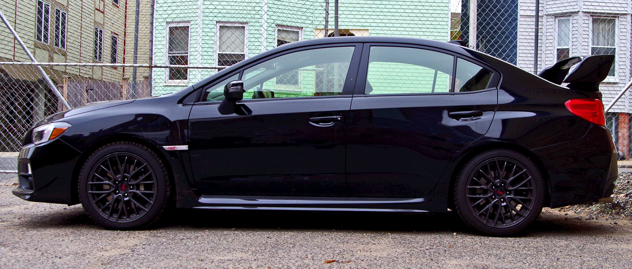 Side view, 2015 Subaru WRX STI
