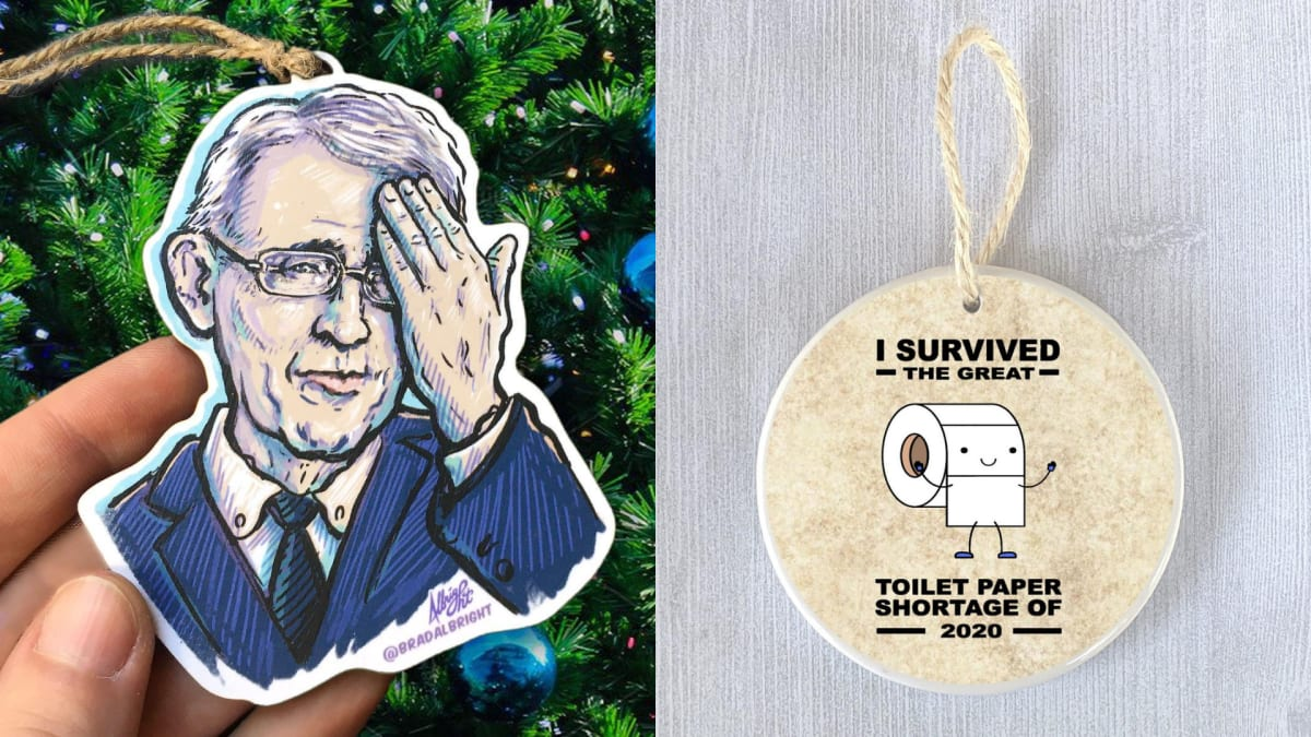 10 Christmas ornaments that perfectly sum up 2020