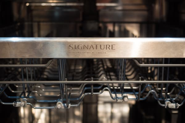 Signature branding is everywhere on the UPDF9904ST dishwasher.