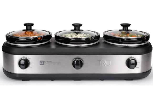 Tru Three Crock Buffet Slow Cooker