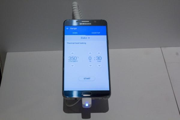 Samsung Smart Home App Oven Controls