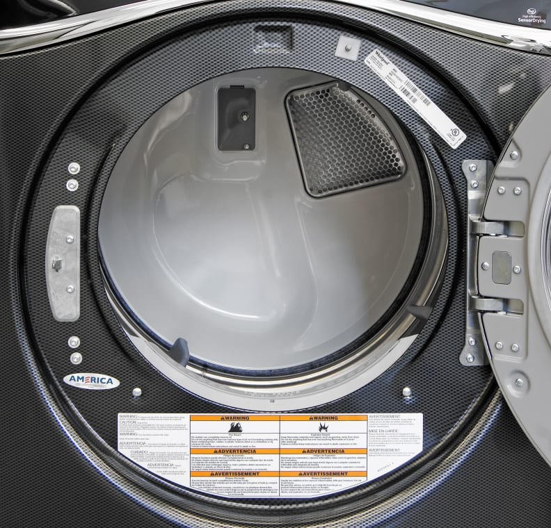 The Duet WED97HEDBD comes with Whirlpool's SilentSteel drum, which is designed to reduce noise caused by tumbling laundry.