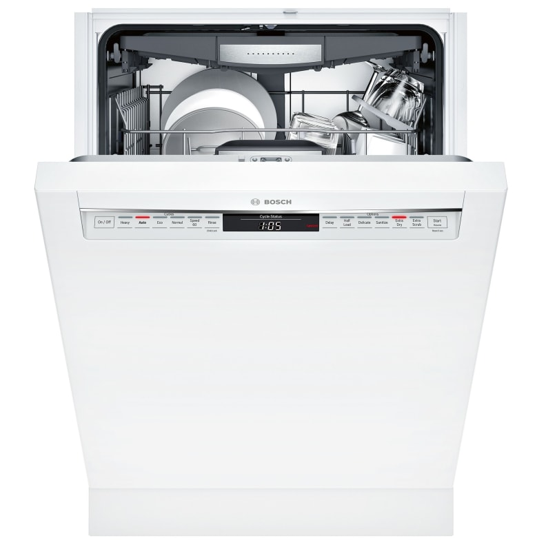 Recessed handle in white Bosch 800 Series