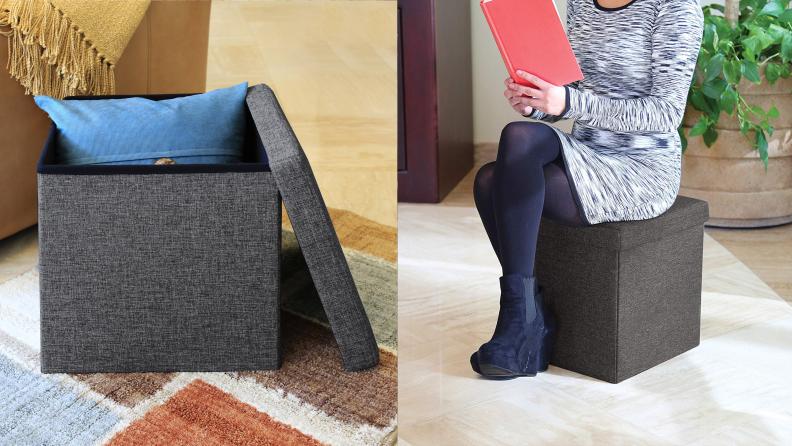 Storage Seat Footrest