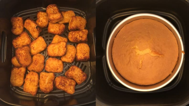 Ninja Foodi chicken nuggets and cake