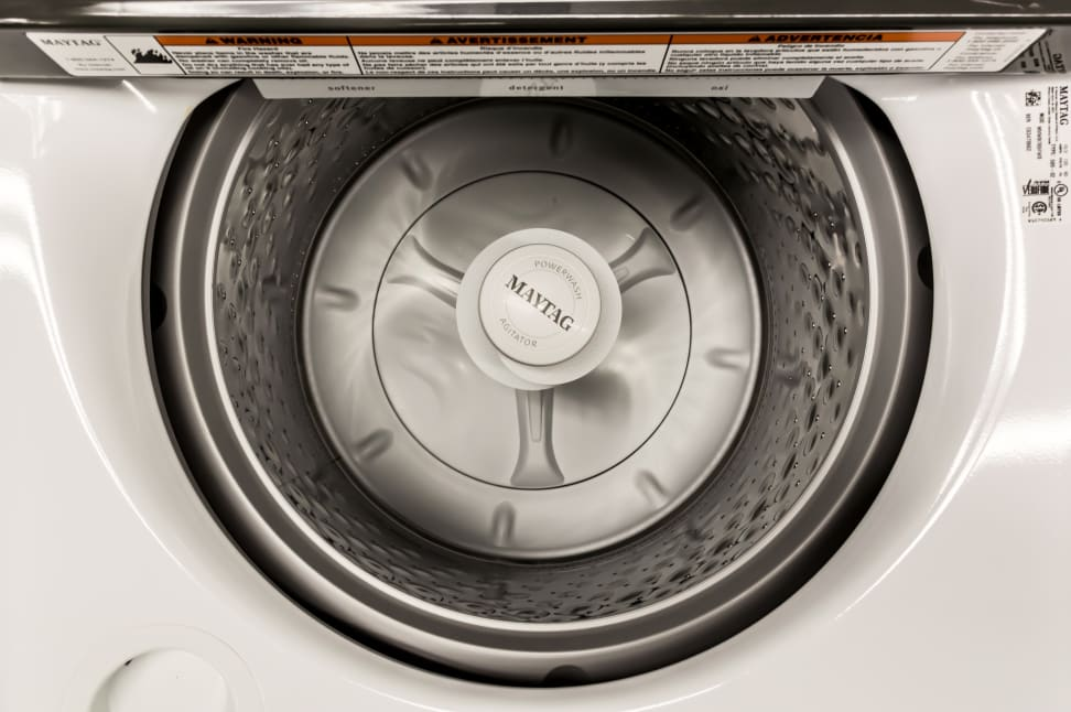Traditional and new features help this big Maytag clean the clothes.