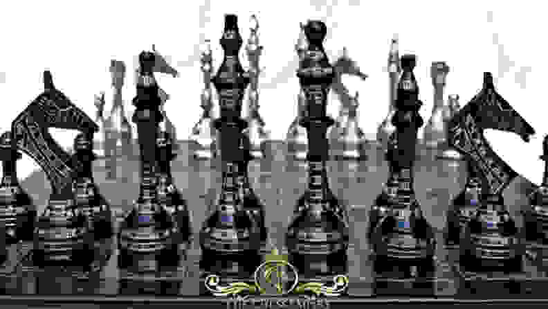 Weighted chess set
