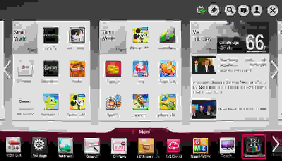 LG's smart platform, also known as LG Smart TV