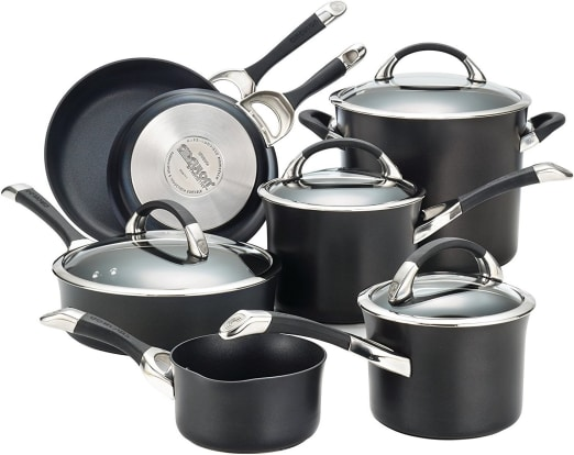 Product Image - Circulon Symmetry Hard Anodized Nonstick 11-Piece Cookware Set