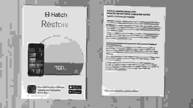 hatch restore instruction card