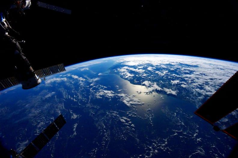 ISS Sunglint Reflected Off Atlantic.jpg
