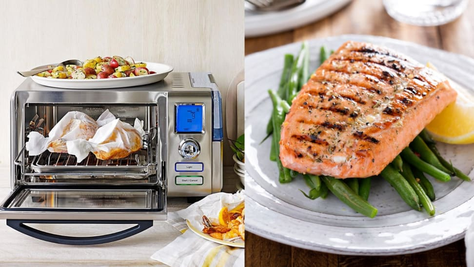 Cuisinart steam oven with salmon