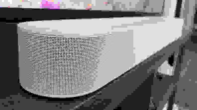 The new polycarbonate speaker grill of the Sonos Beam Gen 2