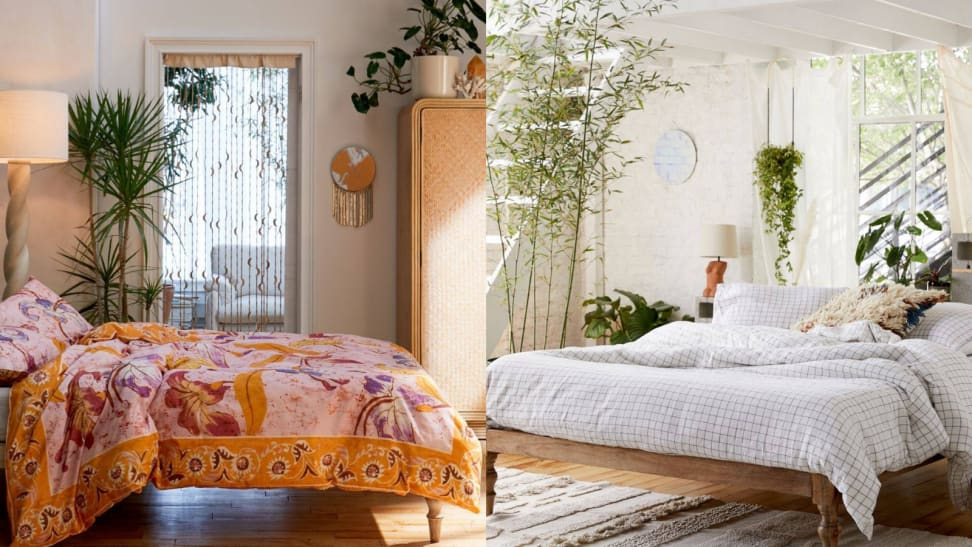 Bedrooms with plants.