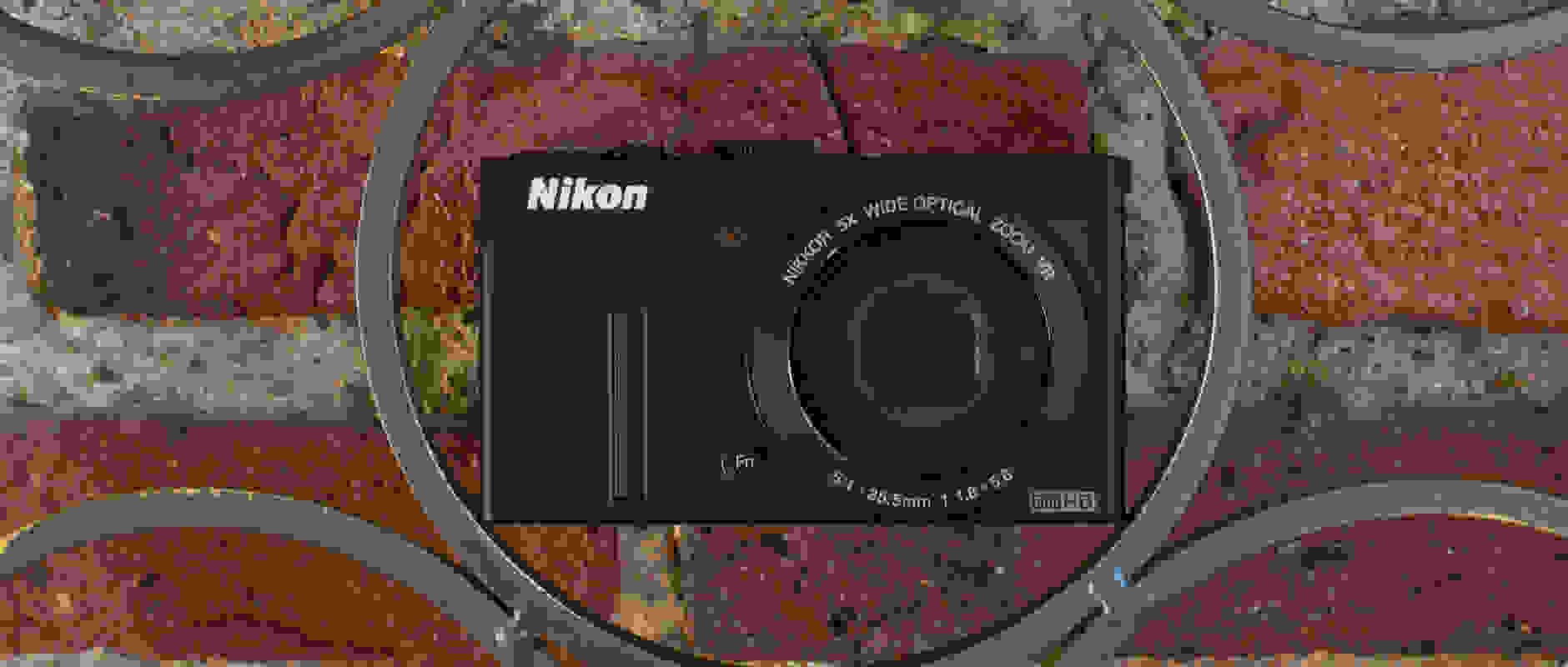 A photograph of the Nikon Coolpix P340's front face.
