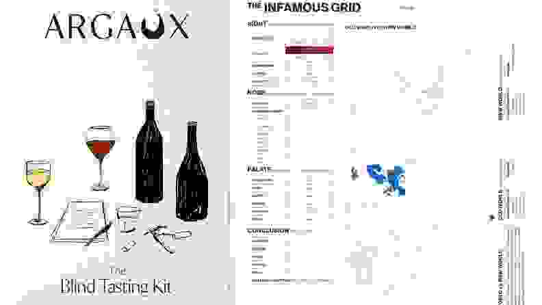 The Argaux scoring card acts as your guide to blind tasting wine.