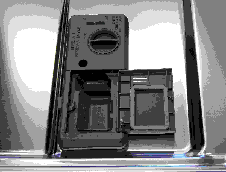 KitchenAid KDTE304DSS detergent and rinse aid dispenser