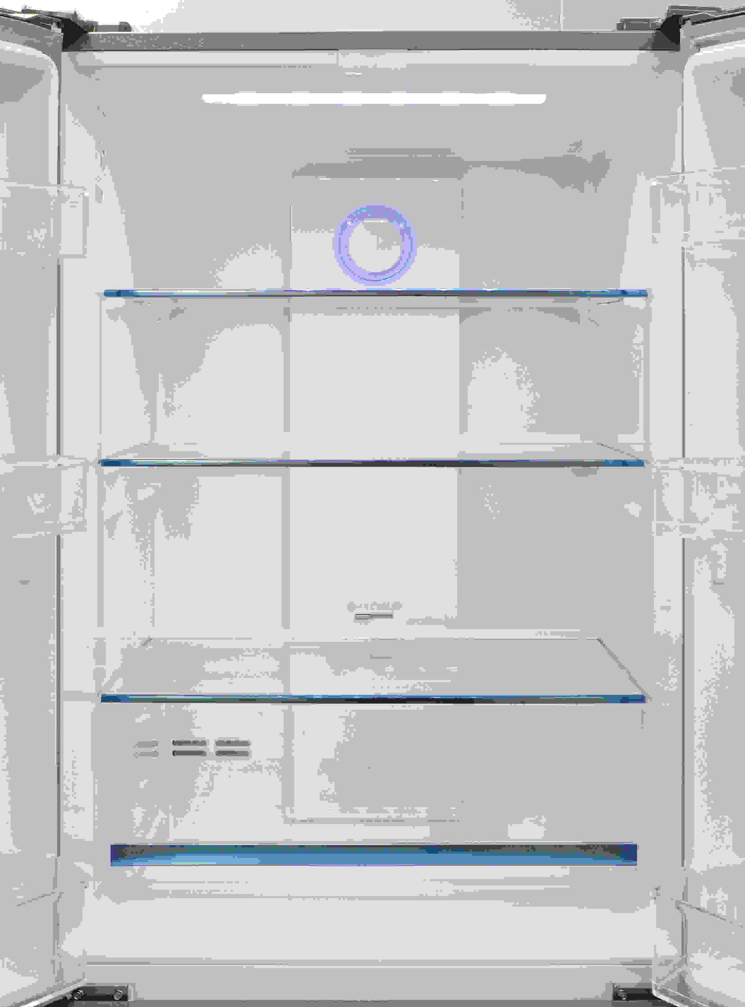 The Haier HRF15N3AGS's shelves are accessible and well appointed... which is good, because the layout offers minimal adjustment opportunities.