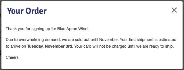 Blue Apron Wine