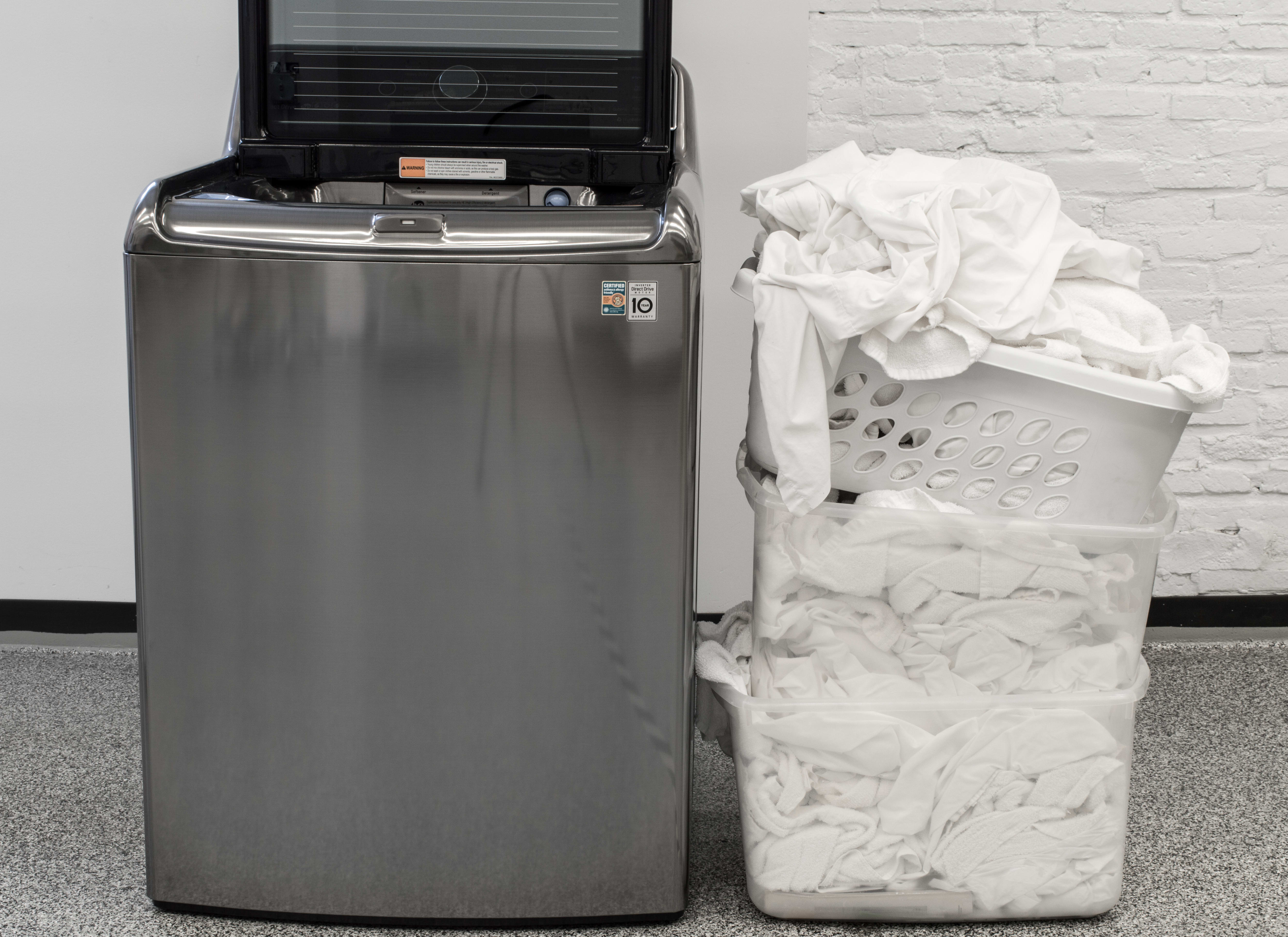 With a 5.7-cu.-ft. capacity, you'll be able to do more laundry.