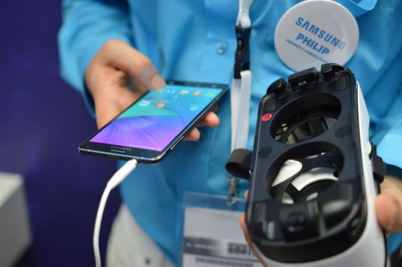 The Galaxy Note 4 and Gear VR