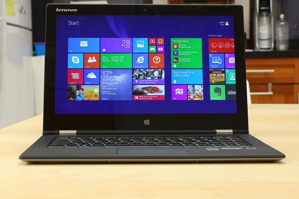 The Lenovo Yoga 2 Pro in laptop mode