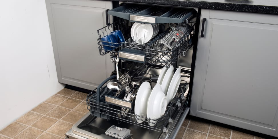 Jenn-Air JDB9600CWX loaded with various dishes