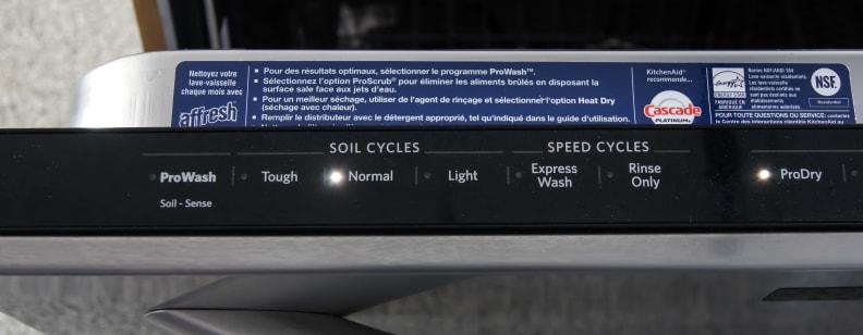 KitchenAid KDTM354DSS—Left Side of Controls
