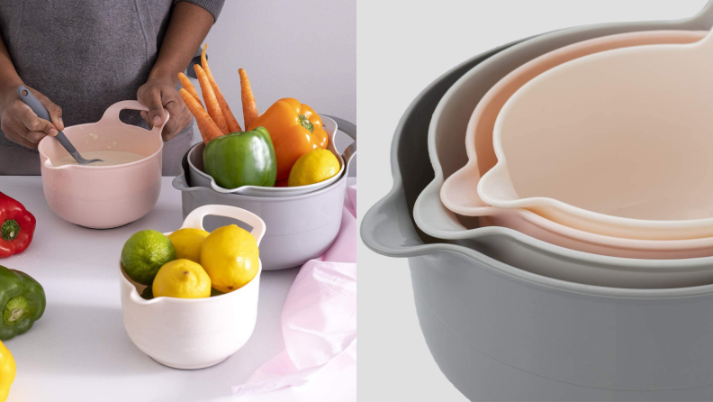 A set of mixing bowls.