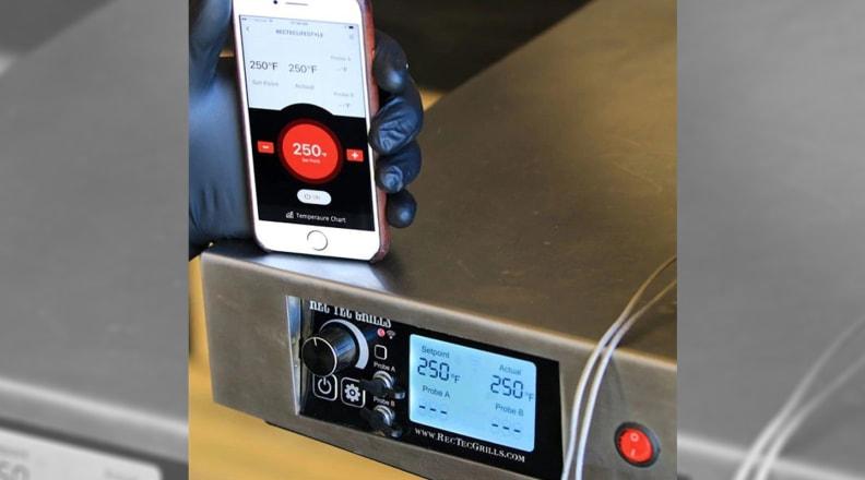 Rec Tec smart grill interface