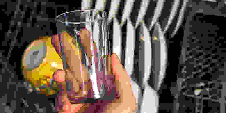 Redeposit on a drinking glass