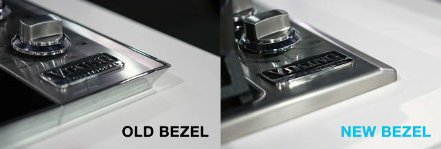 Old vs. New Viking Cooktop Bezels